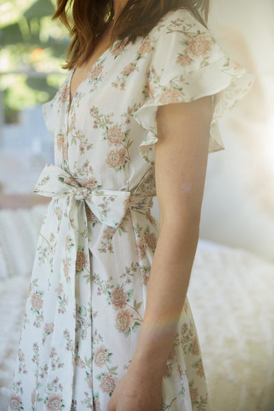 Marianne Floral Robe - Homebodii