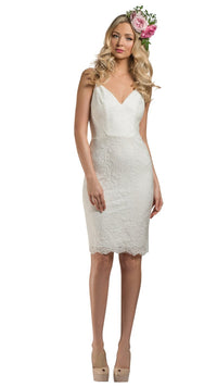 Giselle Lace Dress Ivory - Homebodii