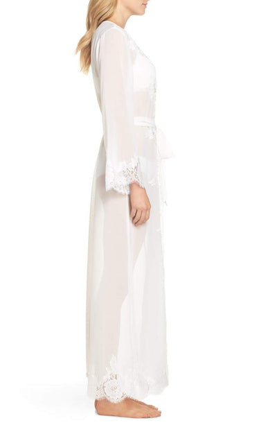 Helena Long Lace Robe - Homebodii