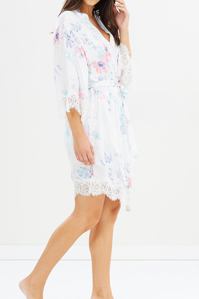 Annabelle Watercolour Robe - Homebodii