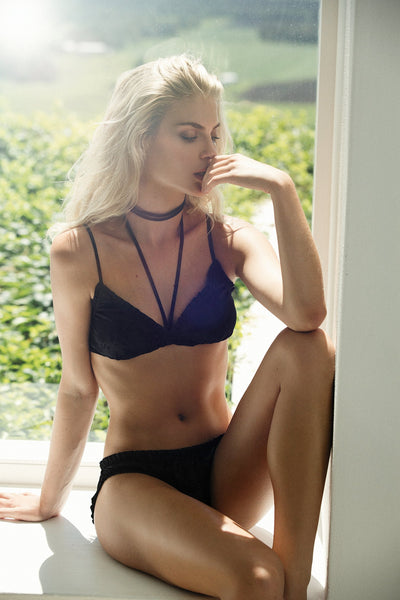 Astra Bralette - Black - Homebodii