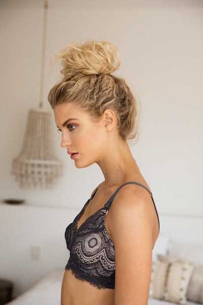Mirabella Maternity Bra - Charcoal - Homebodii