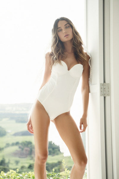 Brooklyn Bodysuit - White - Homebodii