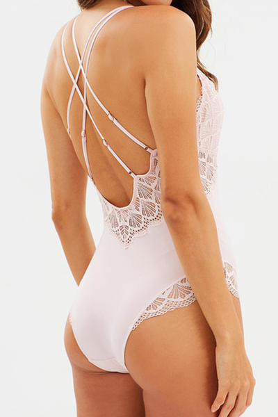 Ava Bodysuit - Blush - Homebodii
