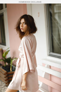 Jasmine Robe - Blush - Homebodii