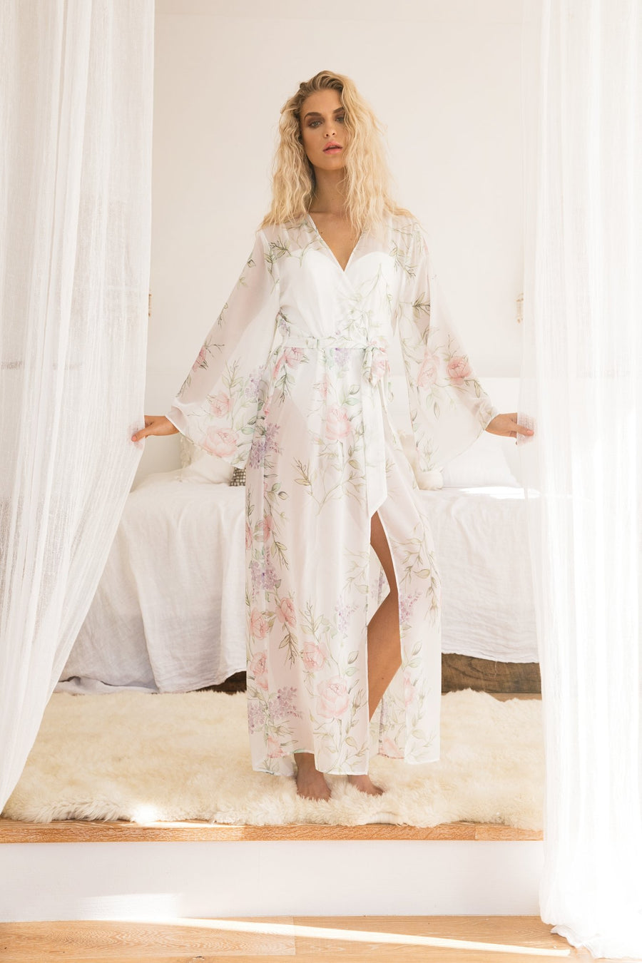 new design rich and magnificent matching in colour Bridal Robes & Wedding Robes - homebodii