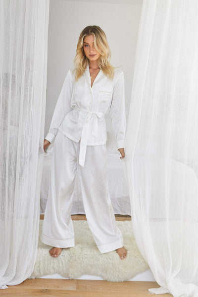 Imogen PJ Lounge Set - White