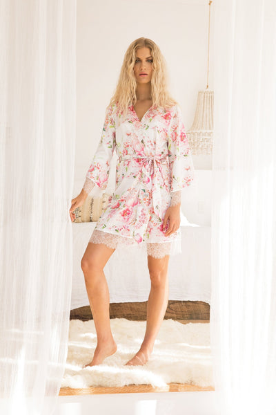 Liv Floral Robe - Homebodii