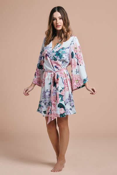 Philomena Floral Robe - Homebodii