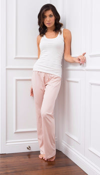 Organic Pima Lounge Pant Dusty Rose - Homebodii