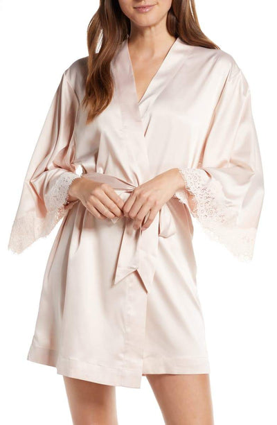Juliette Bridesmaid Embroidered Robe - Blush - Homebodii