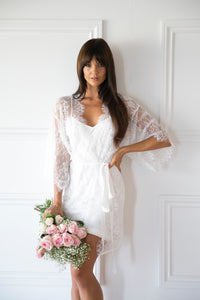 Audrey Lace Robe - Homebodii