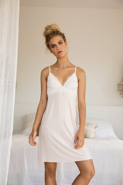 Mirabella Maternity Nightie - Blush - Homebodii