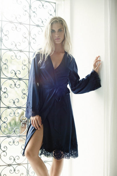 Olivia Robe - Navy - Homebodii