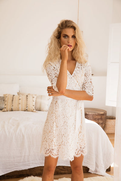 Natalia Lace Robe - Homebodii