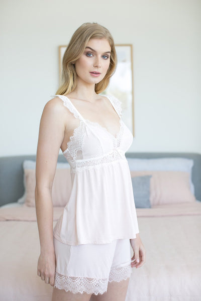 Petra Cami Set - Blush - Homebodii