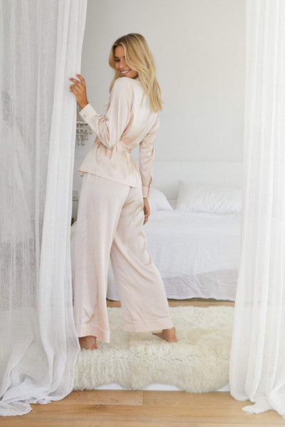 Imogen PJ Lounge Set - Blush - Homebodii