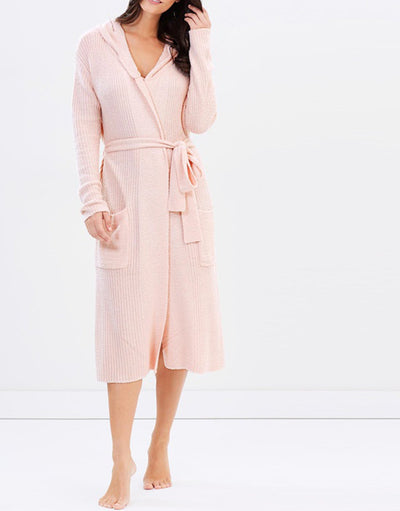 Lush Plush Robe - Blush - Homebodii