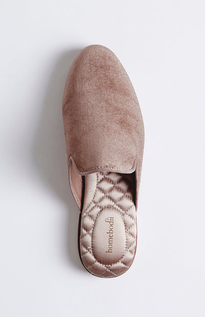 Florence Womens Velvet Slipper - Blush