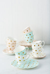Teacup & Saucer (White) - Homebodii