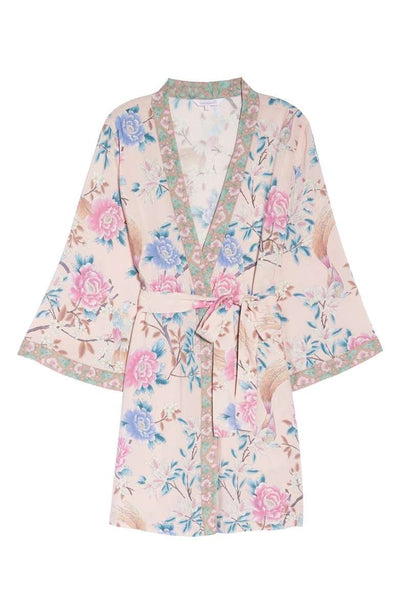 Short Boho Robe - Blush - Homebodii