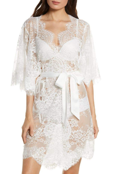 Kassiah Short Lace Robe - Homebodii