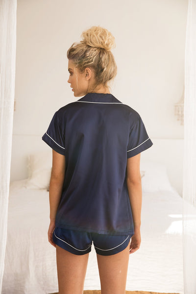 Grace Short Piping Pyjama Set - Homebodii