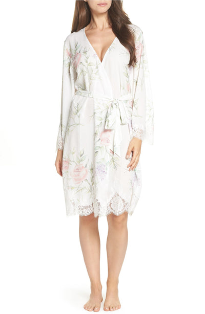Sofia Tea length Lace Robe - Homebodii