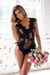 Tatiana Lace Bodysuit - Black
