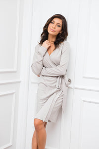 Organic Pima Cotton Robe Pumice - Homebodii