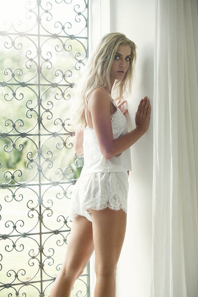 Olivia Cami Set - White - Homebodii