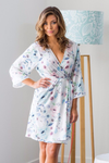 Wild Rose Robe Blue Floral - Limited Edition - Homebodii