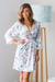 Wild Rose Robe Blue Floral - Limited Edition
