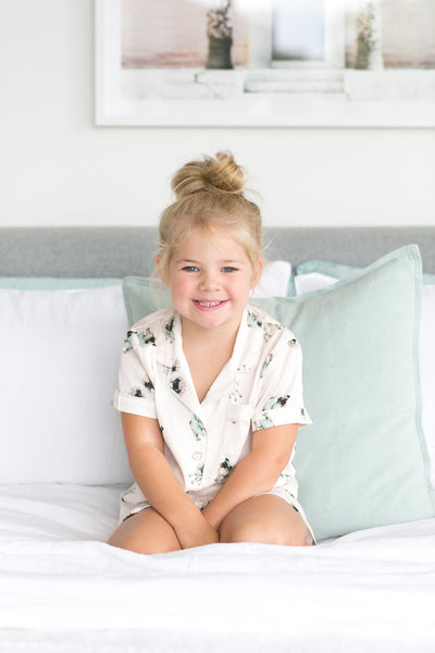 Children's Piping PJ Set - Ruby Pug
