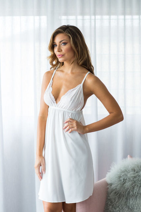 Prudence Satin Nightie - Ivory
