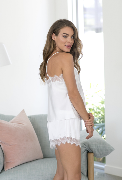 Donatella Cami Set - White - Homebodii