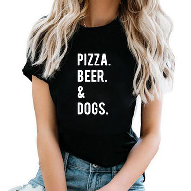 """Pizza Beer & Dogs"" Women's T Shirt"