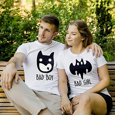 """Bad Boy Bad Girl""  Couple's Tee"