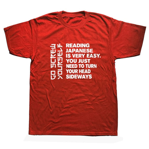 """Reading Japanese Is Very Easy"" 100% cotton Tshirt"