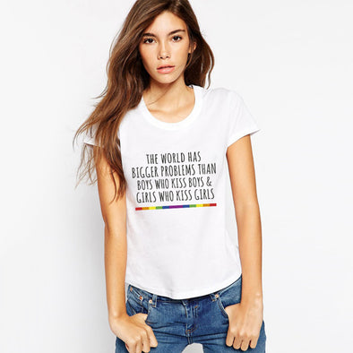 """Gay Pride"", Women Political T Shirt"