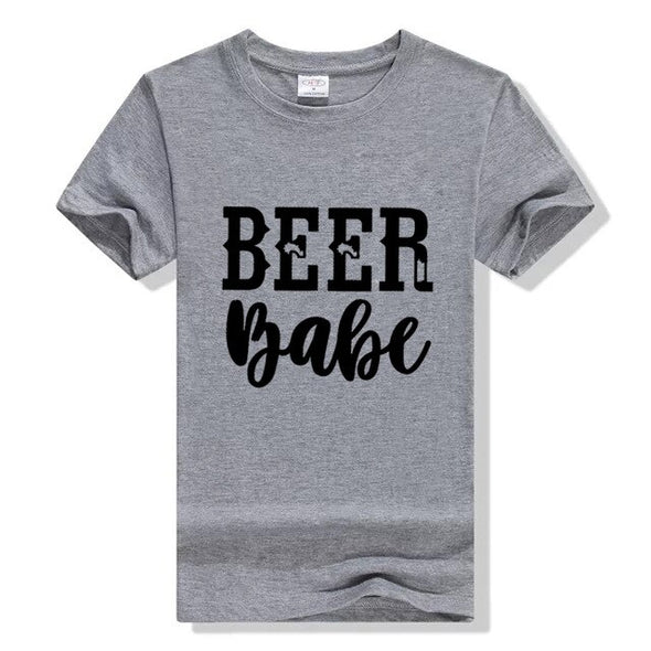 """ Beer Babe"" Women T Shirt"