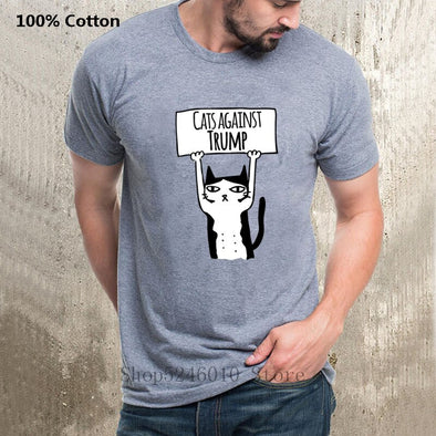 """Cats Against Trump"" T-Shirt"