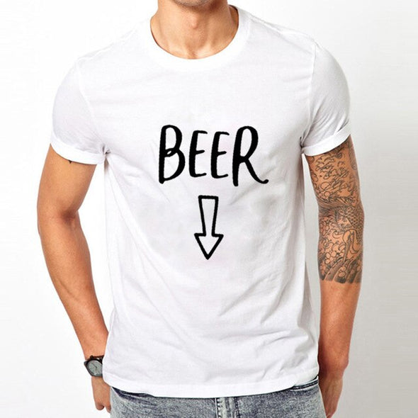 Baby Beer Belly  Matching Couple Top Tee Shirt