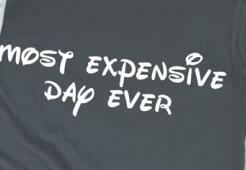 """Best Day Ever Most Expensive Day Ever"" Funny Couple Matching Tee Shirts"