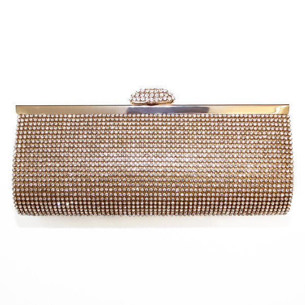 Gold Diamante Clutch