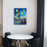 "Paris  STARRY NIGHT(Eiffel Tower)PAINT BY NUMBERS KIT(12""X16"") - Texture Of Dreams"