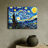 "Van Gogh The Starry Night  Paint by Numbers Kit (18""X24"") - Texture Of Dreams"