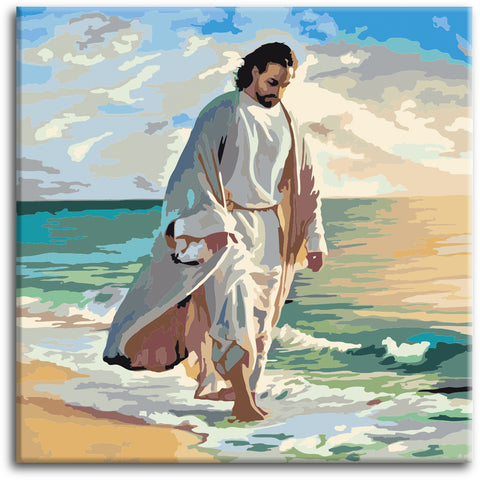 Jesus by the sea Paint by Numbers Kit - Texture Of Dreams
