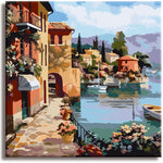 Paint by Numbers Kit for Kids & Adults , Framed Canvas(Romantic Town) - Texture Of Dreams