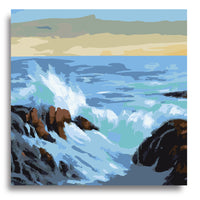 Wavy Wave- Paint by Numbers Kit - Texture Of Dreams